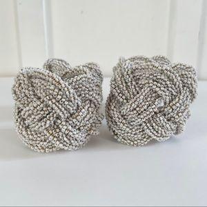 Kim Seybert_Napkin Rings White Bead Set of 4